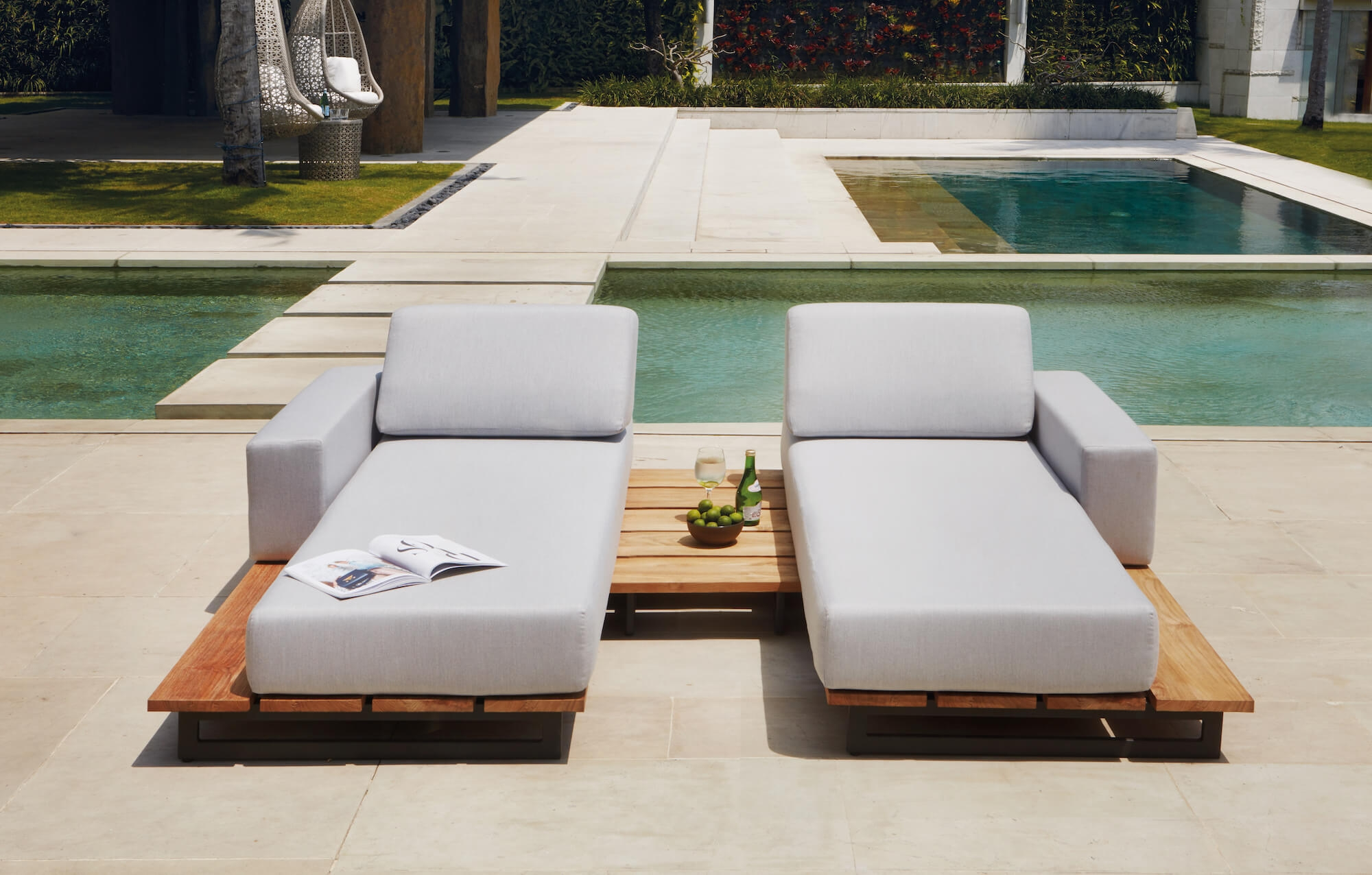 Salon de jardin design modulable de la collection Ona par ...